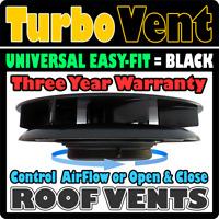 Van Motor Home Camper RV Bus Low Profile Roof Mounted Fan Air Vent BLACK Peugeot