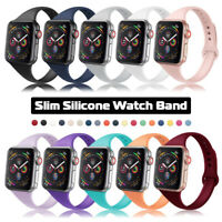 38/40/42/44mm Slim Silicone Sports Band Women Kids Strap for Apple Watch 5 4 3 2