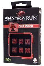 Shadowrun: Street Samurai Black/Red (6) Würfelset /Diceset
