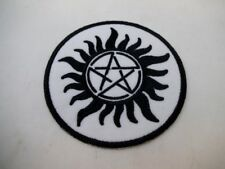 Sun Pentacle Pagan Wiccan Iron On Patch Black Metal GOTH Death rock Magick