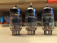 3 RARE BRIMAR ECC807 TUBE-VALVES NOS LOVELY WHITE WRITING BLACKBURN UK