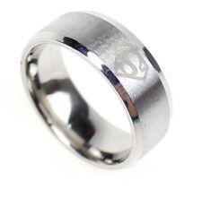 Stainless Steel Superman Ring superhero jewelry classic S logo emblem symbol dc