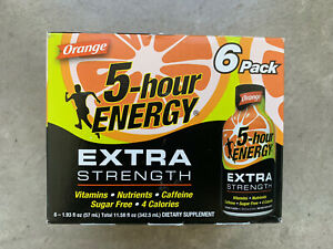 5-hour ENERGY Extra Strength ORANGE 6 Pack Exp 05/22