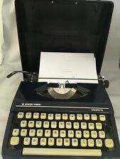 Silver-Reed Silverette typewriter Navy Blue with case Fully working