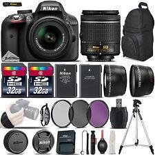 Nikon D3300 Digital SLR Camera +3 Lens 18-55mm VR + 64GB-Great Saving Full Kit