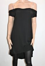 into Brand Black Off Shoulder Day Dress Size 10 BNWT #SW79