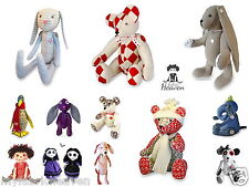 BESPOKE 3 x Pattern Bundle, Your Choice of Any 3 Soft Toy Fabric Sewing PATTERNS