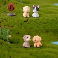 Fairy Garden Decor Resin Dollhouse Dogs Miniature Figurines Micro landscape