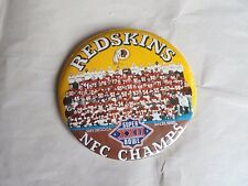 Vintage 1988 NFL Team Washington Redskins NFC Champs Pinback Button