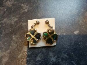 Four Leave Clover Design Drop Earrings