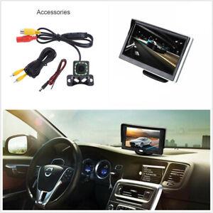 5in HD Car Monitor TFT LCD Digital + 12LED Reverse Parking Camera 170 Degree
