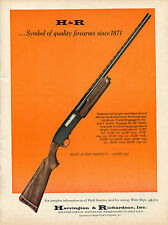 1970 Print Ad of Harrington & Richardson H&R Pump Action Model 442 Shotgun