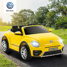 12V Kids Ride on Cars Beetle Electric Double-Drive w/ Remote Control Mp3 Yellow