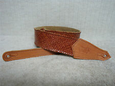 LEVY'S - Light Brown Leather Guitar Strap