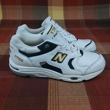 NEW BALANCE 1700 Running Shoes White Blue Made in USA Men's Size 12