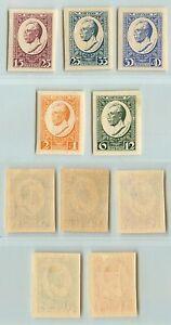 Latvia, 1929, SC B46-B50, mint, imperf. d9368