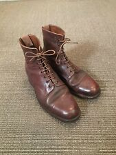 Vintage 1950s British Army Officers Ankle Ammo Ammunition Boots