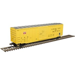 """GREEN BAY & WESTERN  50' 6"""" BOXCAR BY ATLAS TRAINMAN  DETAILED & EXCELLENT BUY!"""