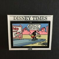 Disney Times: The First Mickey Mouse Sunday Comic Strip #6 LE 3500 Pin 11138