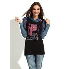 DESIGUAL Women's Energy T-Shirt Sweater Blue Black XS