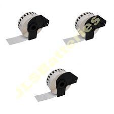 3 x ROLLS 29mm x 30.48M CONTINUOUS DK22210 QL500 QL 550 560 570 DK-22210 Labels