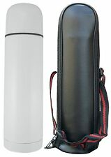 16 oz. White Stainless Steel Dble Wall Thermal Bottle - Good Life Gear BPA-Free