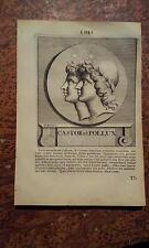SPOOR Effigie 1715: Castor et Pollux, Castore e Polluce, dioscuri