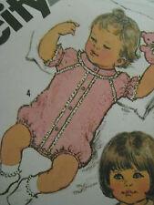 Vintage Simplicity 5431 Baby JUMPSUIT ROMPER Sewing Pattern 6 Mos. Infant Onesie