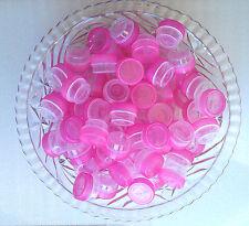 15 TINY Little Mini JARS Hot Pink Cap Lid Bottle Container 1 tsp #3301 DecoJars
