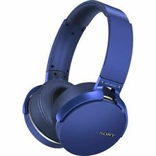 Sony MDR-XB950BT Extra Bass Bluetooth Headphone Blue MDRXB950BT Over Ear #64 NEW