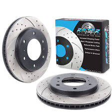 FRONT DRILLED GROOVED 290mm BRAKE DISCS FOR MITSUBISHI PAJERO SHOGUN 3.8 V6 TD
