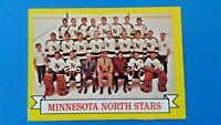 1973 Topps NHL Hockey Minnesota North Stars Team Picture Card # 99