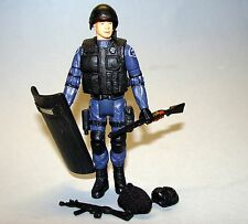 1:18 Intoyz SWAT Assault Police Law Enforcement Figure w/ Shotgun shield mask 4""