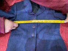 Childs hunt coat size 8 dark navy blue solid. excellent condition