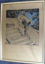"""Jerome Zetterquist 1898-1968, """"Sansibar"""",aquarellierte Tuschezeichnung, dat 1924"""