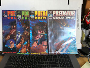 Predator Cold War #1 2 3 4 Dark Horse Mini Series Comic Book Set 1-4 Complete