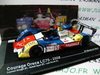 24h6M 1/43 IXO Altaya Passion vitesse GT: COURAGE ORECA LC70 24 Heures Mans 2008