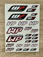 Planche d'autocollant WP format A4 - stickers fourche choc sponsor white power