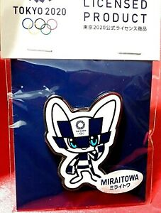 OFFICIAL MIRAITOWA TOKYO 2020 / 2021 JAPAN OLYMPIC GAMES PIN ON CARD