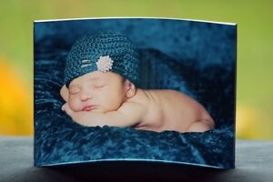 """Curved Clear Acrylic Photo Panel 5″ x 7"""" - Personalized With Your Own Image"""