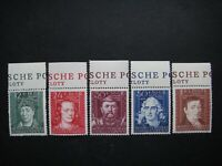Germany Nazi 1944 Stamps MNH Conrad Celtis Andreas Schluter Hans Boner Augustus