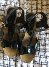 Novo Size 9 Heel Strappy Black Shoes gold studs RRP $99 still great condition!!
