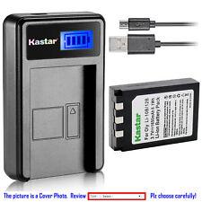 Kastar Battery LCD Charger for Olympus Li-10B & Stylus 500 Stylus 500 Digital
