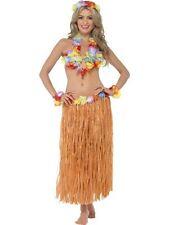 Hawaiian Hula Honey Instant Kit Skirt, Headpiece, Wrist Cuffs, Lei and Bra
