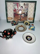 Vintage Mary Engelbreit Rare tray & Plates & Teapot & Q Queen Lots