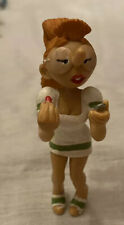 Figurine Collection Gaston Lagaffe Plastoy Marsu 1998 Red Hair Girl On Phone