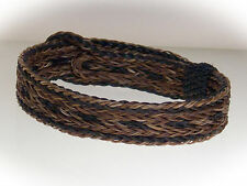 Horse Hair Bracelet One Size Fits All  Earth Tones  WIDE