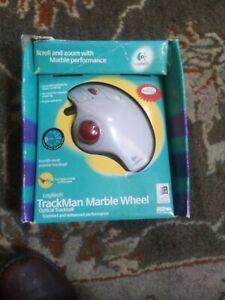 SEALED Logitech TrackMan Marble Wheel Optical Trackball Mouse PS/2 USB worn box