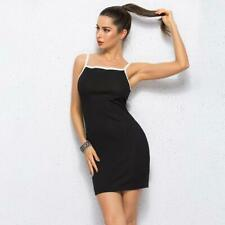 Mid-rised Strap Dresses Women's Dress Vestido Sexy Feminine Short Solid Color