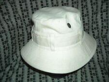 Vtg 60 70S Mens 7 White Denim Jean Fishing Hunting Safari Sailor Navy Hat